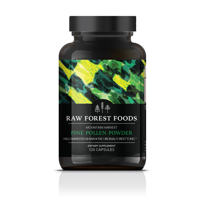 Mountain Harvest RAW Pine Pollen Capsules